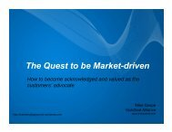 The Quest to be Market-driven - svpma