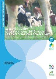Résultats 2009 et estimation 2010 pour les exploitation bovins lait
