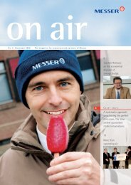 No. 1 / December 2006 - Messer Group