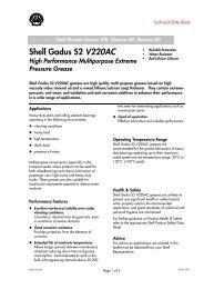 Shell Gadus S2 V220AC - Schmierstoff-Datenbank