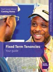 Fixed term tenancies guide - Family Mosaic