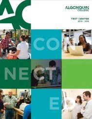 Applicant Test Booklet - Algonquin College