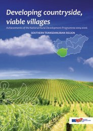 Developing countryside, viable villages
