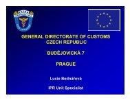 general directorate of customs czech republic budějovická 7 prague