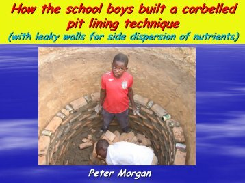 How the school boys built a corbelled pit lining ... - EcoSanRes