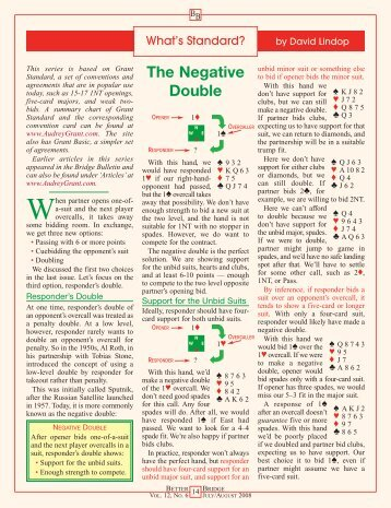 The Negative Double - Better Bridge