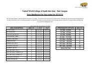 East Campus Area distribution for bus routes for 2013/14