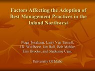 Factors Affecting the Adoption of Best Management Practices in the ...
