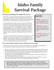 Idaho Family Survival Package - Hunting and Fishing - Alliance for a ...
