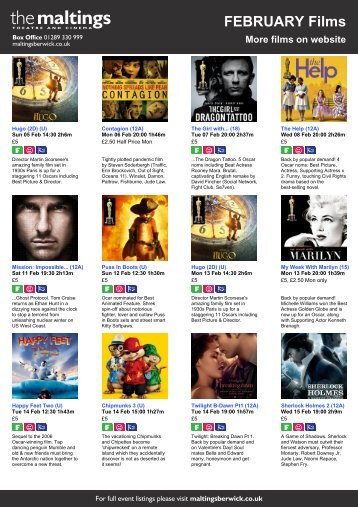 FEBRUARY Films - The Maltings