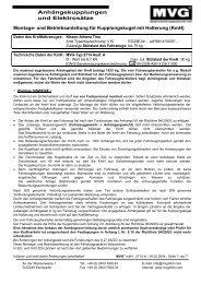 Montage- und Betriebsanleitung für Kupplungskugel mit Halterung ...