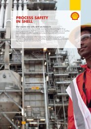 Process safety in shell