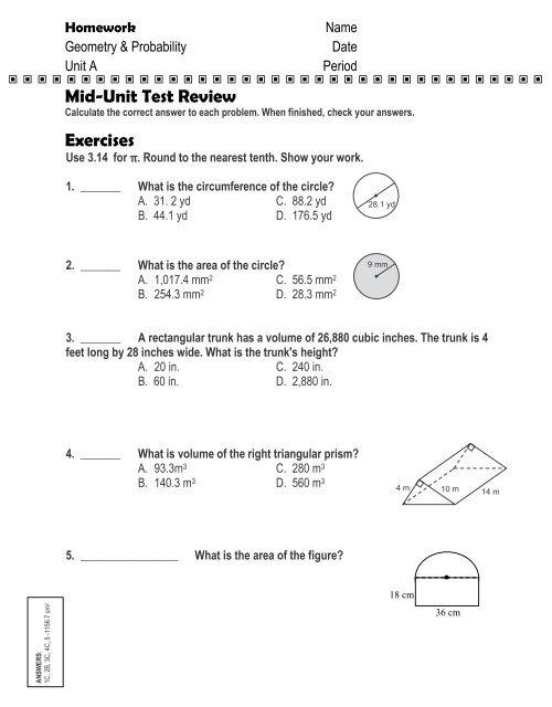ANSWERS: Homework
