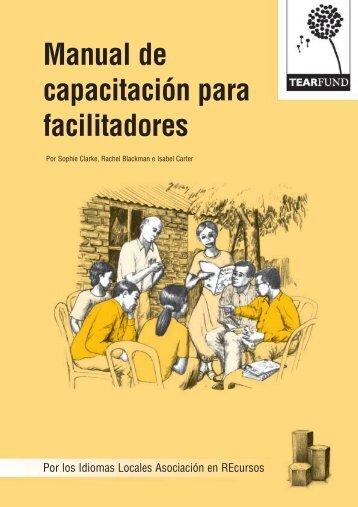Manual de capacitación para facilitadores - CEDECAP