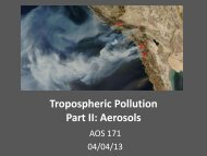 Tropospheric Pollution Part II:Aerosols - Atmospheric and Oceanic ...
