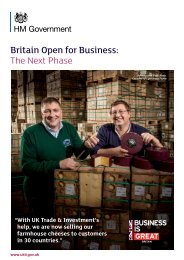 UKTI Strategy Refresh Britain is Open for Business