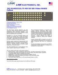 LINK ELECTRONICS, INC. 762-XLHD3232L/75 HD SD SDI Video ...