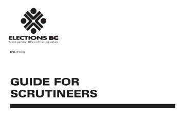 Guide for Scrutineers - Elections BC