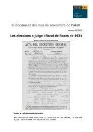 Document novembre 2012 - Ajuntament de Roses