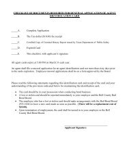 RENEWAL - Application for Agent Identification Card - Bell County