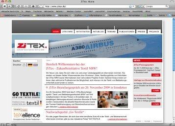 Herzlich Willkommen bei der ZiTex - Zukunftsinitiative Textil NRW!