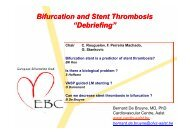 "Bifurcation and Stent Thrombosis ""Debriefing"" - Bifurc.net"