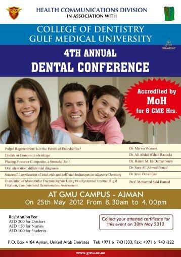 DENTAL CONFERENCE - Gulf Medical University