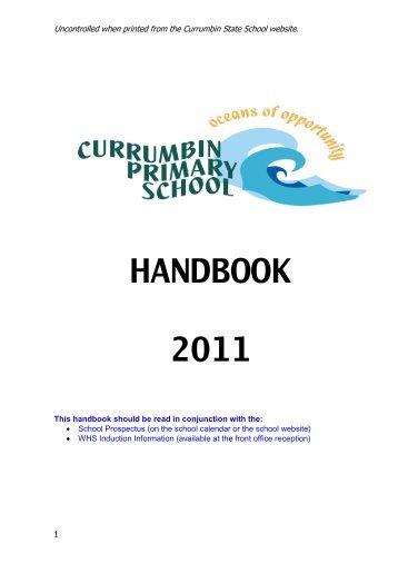 handbook 2011 - Currumbin Primary School - Education Queensland