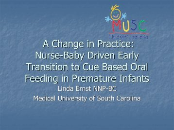 CHANGE IN PRACTICE: NURSE DRIVEN EARLY TRANITION TO ...