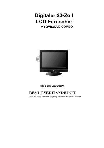 Digitaler 23-Zoll Lcd-Fernseher mit DVB&DVD COMBO - Gericom