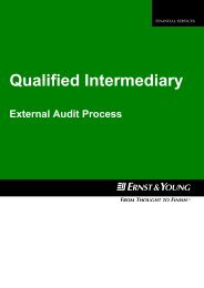 Qualified Intermediary - External Audit Process