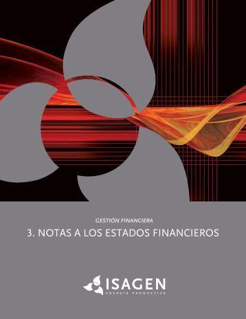 3. NOTAS A LOS ESTADOS FINANCIEROS - Isagen