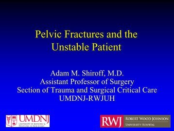 Pelvic Fractures and the Unstable Patient