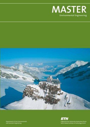 Master Programme Brochures - ETH - Environmental Engineering