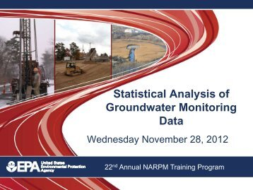 Statistical Analysis of Groundwater Monitoring Data - (NARPM ...