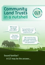 CLTs in a Nutshell - Wiltshire Community Land Trust