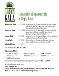 Categories of Sponsorship & Reply Card - Greater Newark ...
