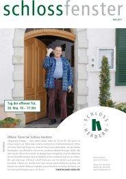 Tag der offenen Tür, 28. mai, 10 – 17 uhr - Schloss Herdern