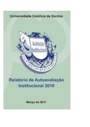 Relatório de Autoavaliação da Universidade Católica de ... - Unisantos