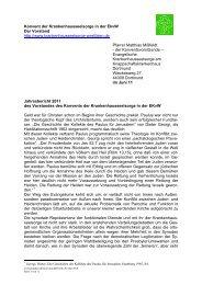 Jahresbericht 2011 - Evangelische Krankenhausseelsorge in ...