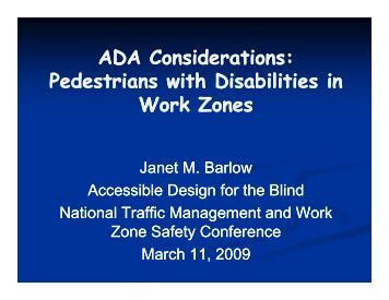 ADA Considerations - National Work Zone Safety Information ...