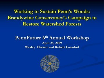 Restoration of Watershed Forests - PennFuture