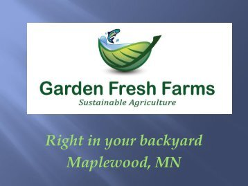Right in your backyard Maplewood, MN - Clean Energy Resource ...