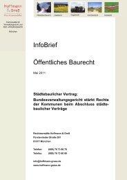 Öffentliches Baurecht: Städtebaulicher Vertrag ... - Hoffmann-gress.de