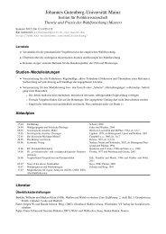 Theorie und Praxis der Wahlforschung (Master) - Kai Arzheimer