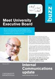 'Meet UEB' Buzz special edition - University of Birmingham