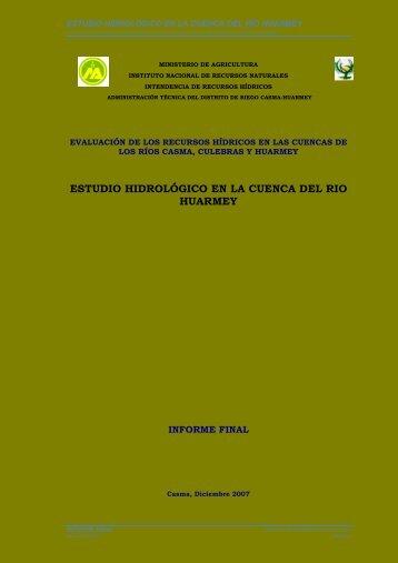 ESTUDIO HIDROLOGICO HUARMEY - Autoridad Nacional del Agua