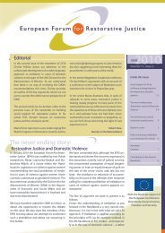 The never ending story: - European Forum for Restorative Justice