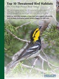 Top 10 Threatened Bird Habitats - American Bird Conservancy