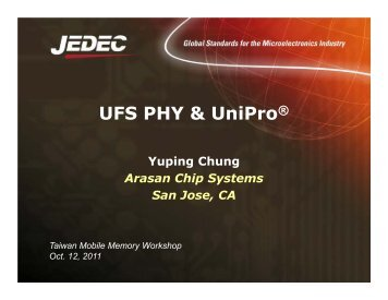 UFS UniPro and PHY Tutorial - Arasan